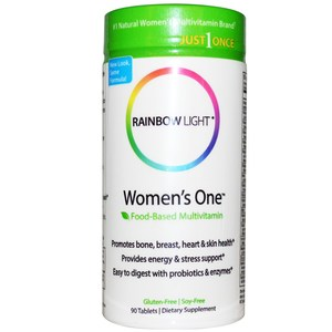Rainbow Light  Just Once  Women's One  Food-Based Multivitamin  90 Tablets