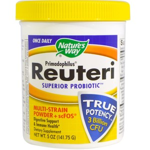 Nature's Way, Primadophilus, Reuteri Superior Probiotic, Multi-Strain Powder + scFOS, 5 oz (141.75 g