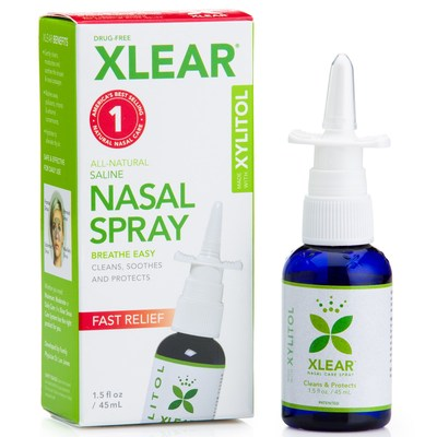 Xlear Inc (Xclear), Xylitol Saline Nasal Spray, Fast Relief, 1.5 fl oz (45 ml)