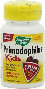Nature's Way  Primadophilus  Kids  Cherry Flavor Chewables  Ages 2-12  30 Tablets