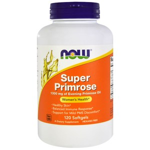 Now Foods  Super Primrose  Evening Primrose Oil  120 Softgels