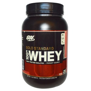 Optimum Nutrition, Gold Standard 100% Whey, Delicious Strawberry, 2 lbs (909 g)