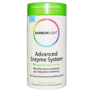 Rainbow Light  Advanced Enzyme System  Rapid Release Formula  180 Veggie Caps