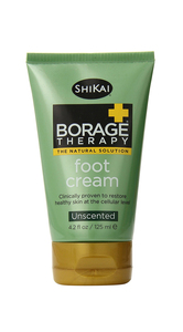 Shikai  Borage Therapy  Foot Cream  Unscented  4.2 fl oz (125 ml)