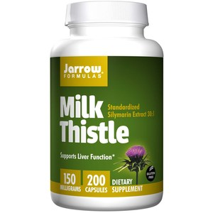 Jarrow Formulas  Milk Thistle  150 mg  200 Capsules