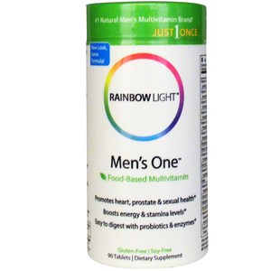 Rainbow Light  Just Once  Men's One  Food-Based  Multivitamin  90 Tablets