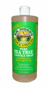Dr. Woods Tea Tree Castile Soap with Fair Trade Shea Butter 32 fl oz (946 ml)